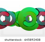 circle geometric abstract... | Shutterstock .eps vector #645892408