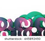 circle geometric abstract... | Shutterstock .eps vector #645892450