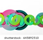 circle geometric abstract... | Shutterstock .eps vector #645892510