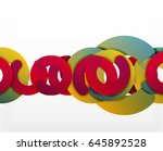 circle geometric abstract... | Shutterstock .eps vector #645892528