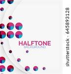 halftone color texture vector... | Shutterstock .eps vector #645893128