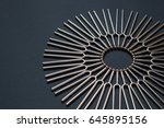 tuning fork round pattern on a... | Shutterstock . vector #645895156