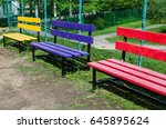 color benches | Shutterstock . vector #645895624