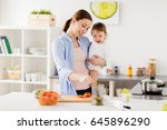 family  food  healthy eating ... | Shutterstock . vector #645896290