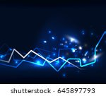 neon lightning background... | Shutterstock . vector #645897793