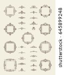 a huge rosette wicker border...   Shutterstock . vector #645899248