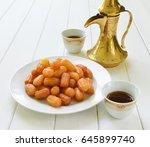 awammat   a middle eastern... | Shutterstock . vector #645899740
