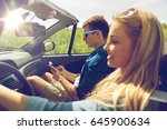 leisure  road trip  travel and... | Shutterstock . vector #645900634