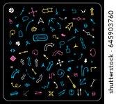 cursor pointer symbol set | Shutterstock .eps vector #645903760