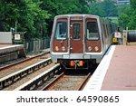 Metro Unit Leaves Station
