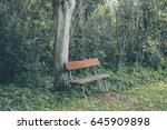 Old Wooden Bench. Outdoors. A...