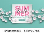 summer sale banner template... | Shutterstock .eps vector #645910756