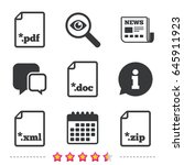 download document icons. file... | Shutterstock .eps vector #645911923