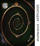 alice in wonderland. spiral... | Shutterstock . vector #645913420