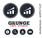 grunge post stamps. chart with... | Shutterstock .eps vector #645917119