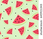 cute seamless vector pattern...   Shutterstock .eps vector #645921343