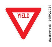 vector yield sign | Shutterstock .eps vector #645921784
