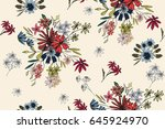 seamless pattern with cute... | Shutterstock .eps vector #645924970