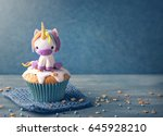 unicorn cupcakes for a party | Shutterstock . vector #645928210