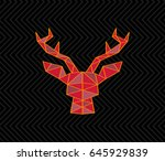 head of a deer and triangles...   Shutterstock .eps vector #645929839