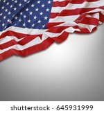 closeup of american flag on... | Shutterstock . vector #645931999