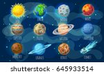 Colorful Space Elements Set...