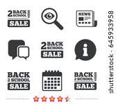 back to school sale icons.... | Shutterstock .eps vector #645933958