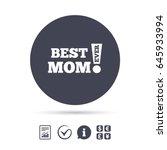 best mom ever sign icon. award... | Shutterstock .eps vector #645933994