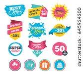 sale banners  online web... | Shutterstock .eps vector #645934300
