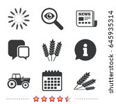 agricultural icons. wheat corn... | Shutterstock .eps vector #645935314
