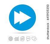arrow sign icon. next button.... | Shutterstock .eps vector #645935350