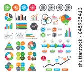 business charts. growth graph.... | Shutterstock .eps vector #645935413