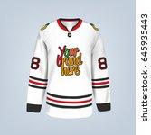 vector illustration of hockey... | Shutterstock .eps vector #645935443