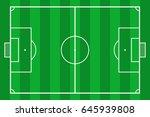 soccer field. green grass... | Shutterstock .eps vector #645939808
