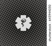 medical icon. ambulance symbol. | Shutterstock .eps vector #645944050