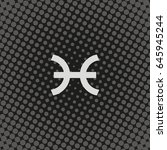 pisces zodiac sign. | Shutterstock .eps vector #645945244