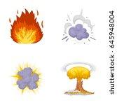 flame  sparks  hydrogen... | Shutterstock .eps vector #645948004