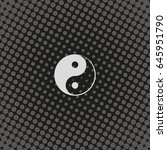 yin yang symbol. | Shutterstock .eps vector #645951790