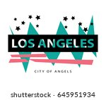 los angeles city of angels  ... | Shutterstock .eps vector #645951934