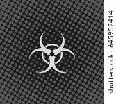 the radiation icon. radiation... | Shutterstock .eps vector #645952414