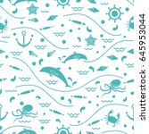 Cute Seamless Pattern With...