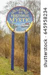 Small photo of Welcome To Historic Mystic in Connecticut - MYSTIC / CONNECTICUT - APRIL 6,2017
