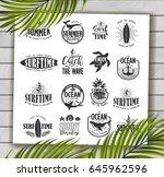 summer typography design...   Shutterstock .eps vector #645962596