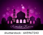 ramadan kareem greeting card... | Shutterstock . vector #645967243