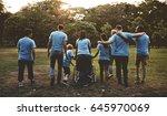 group of diversity people...   Shutterstock . vector #645970069