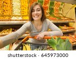 gorgeous young happy woman... | Shutterstock . vector #645973000