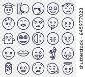 smile icons set. set of 25... | Shutterstock .eps vector #645977023