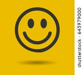 smile icon in trendy flat style ... | Shutterstock .eps vector #645979000