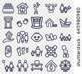 family icons set. set of 25... | Shutterstock .eps vector #645980980