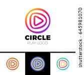 play movie   vector logo... | Shutterstock .eps vector #645981070